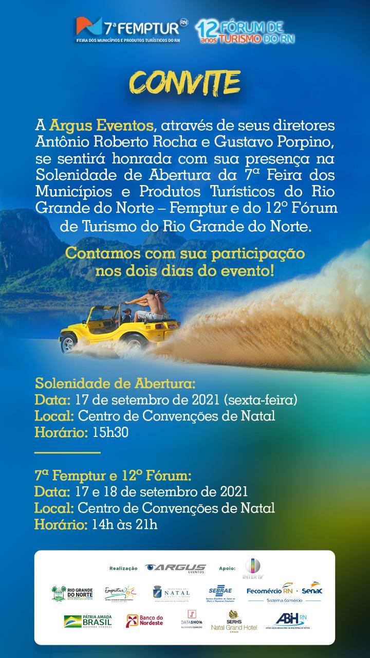 CONVITE – 7ª FEMPTUR e 12º Fórum de Turismo do RN