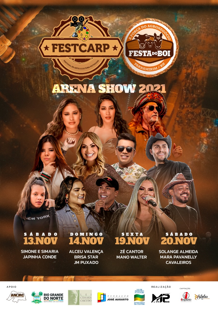 Metta Promo e Anorc anunciaram nesta terça-feira (19) as atrações para a volta da Festa do Boi em 2021, na arena de shows